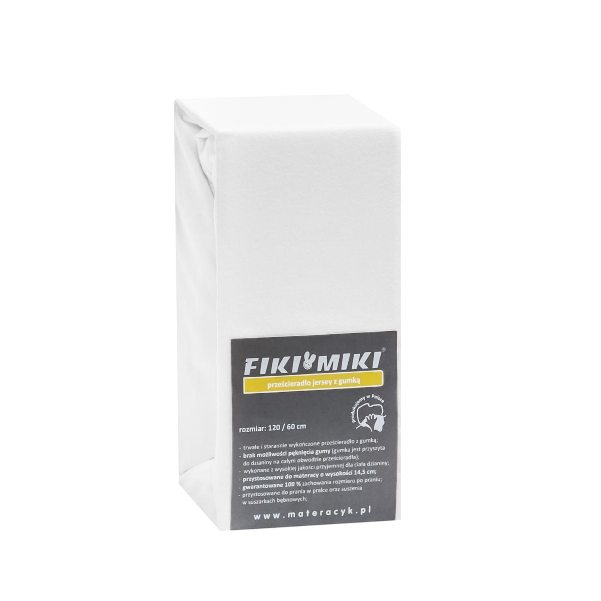 Cearceaf cu elastic jerse alb 120/60 cm